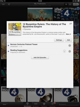 Que le llevará de vuelta a la pantalla anterior. Como se puede ver, se iniciará la descarga del episodio de inmediato.