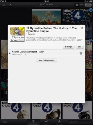 Seleccione los podcasts. Como se puede ver, se descarga automáticamente el último episodio. Si desea descargar el episodio anterior, pulse el botón Agregar viejo episodio.