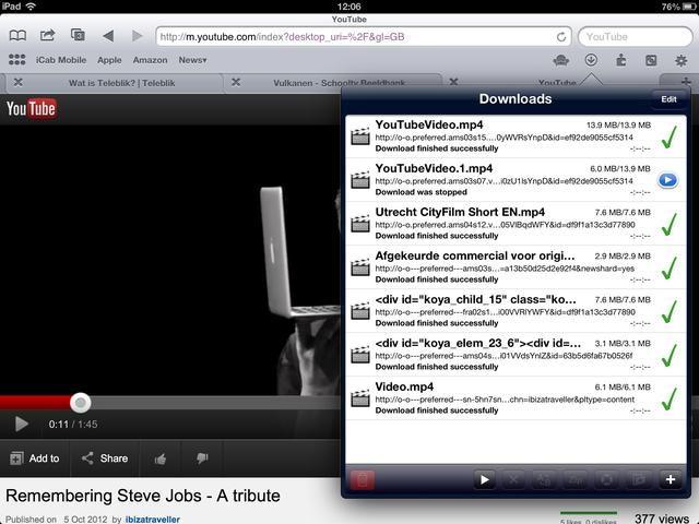 Pulse en el botón de descarga para ver si la descarga fue exitosa.