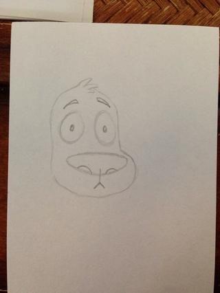 ¡Más detalles! Dibuja una pequeña línea en la base de la nariz hacia abajo, un poco como un revés Y