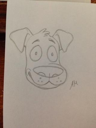 El dibujo se puede detener en el paso 5, pero he añadido un poco más de detalle a la mía. Don't forget to sign your drawing!