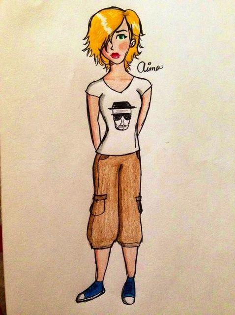 Cómo dibujar una chica de dibujos animados