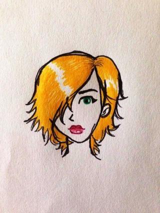 Colorear con un lápiz amarillo. He utilizado un puntero. Deje el área blanca para el