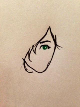 Ahora haga una bola del ojo pequeño en ella de cualquier color que te gusta, yo elegí verde. Asegúrese de dejar un pequeño círculo blanco en él - el