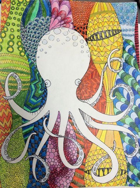 Cómo dibujar un colorido Animal Zentangle.
