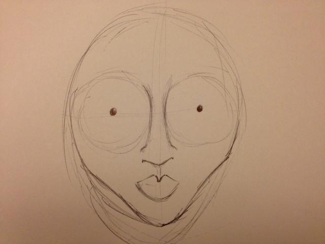Dibuje la forma del labio y redefinir los huesos de las mejillas y la barbilla.