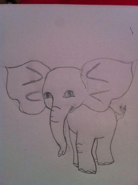 Cómo dibujar un lindo bebé elefante