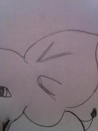 Luego, en los oídos hacer algunas líneas para hacer la mirada oído más realista!