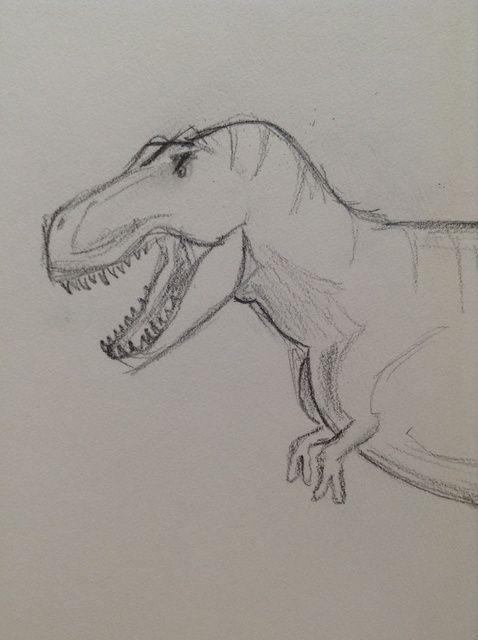 Cómo dibujar un dinosaurio