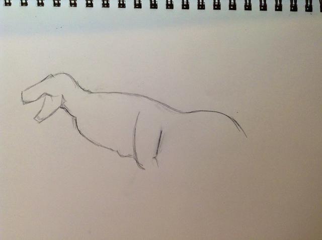 Siguiente dibujar el vientre y comenzar las patas traseras.
