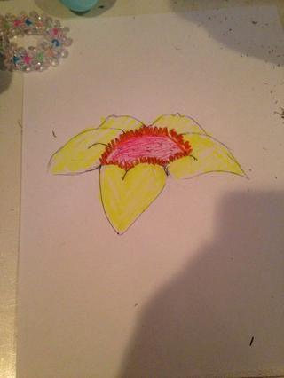 Mis gusta colorearlo En Pero es opcional. Diviértete con tu flor y hacerlo único!