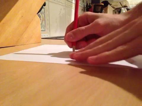 Mueva lentamente el papel de modo que gira en torno al punto de su dedo. Usted debe mantener la punta del lápiz en el mismo lugar. Continúe girando la hoja hasta que el círculo se ha completado.