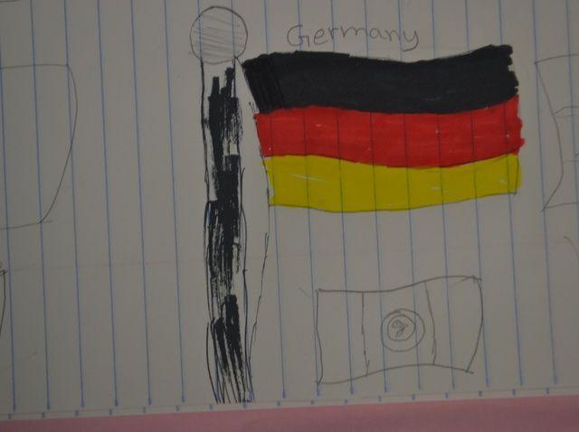 Cómo dibujar una bandera alemana