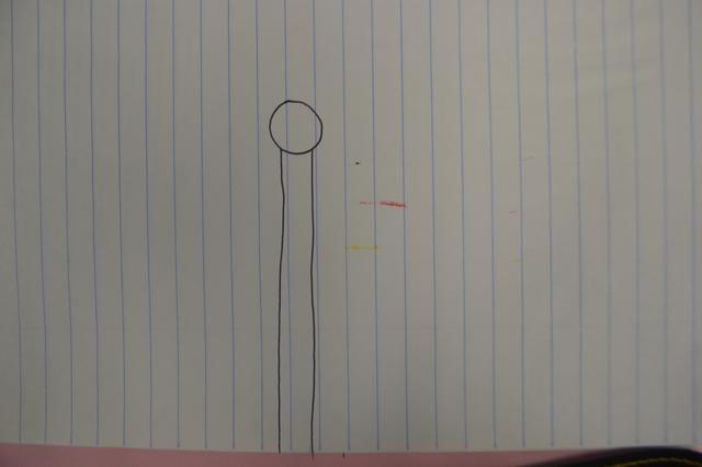 A continuación, dibuje dos líneas que van abajo de cada lado.