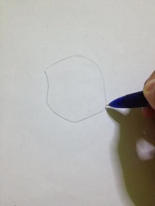 Dibuja el contorno de la cabeza. Dibuje la ligera.