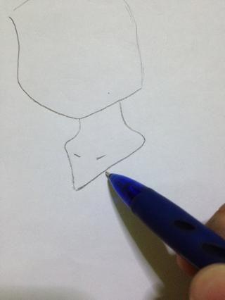Dibuja el cuello.