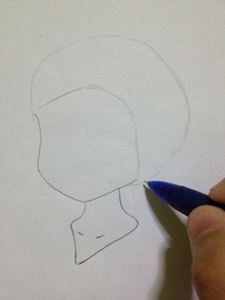 Dibuja un cuarto de círculo. lol. Al igual que un afro.