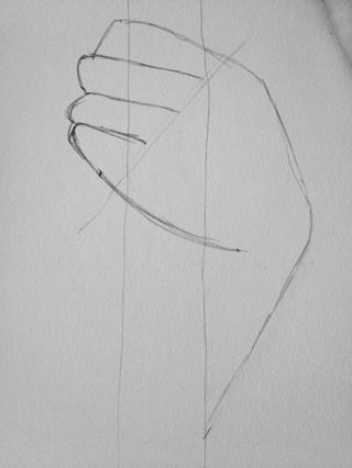 Termina el dedo meñique con un nudillo curva muy suave y el dedo debe ser parte de la base de la mano y la línea de los dedos (que conecta los extremos de los dedos)