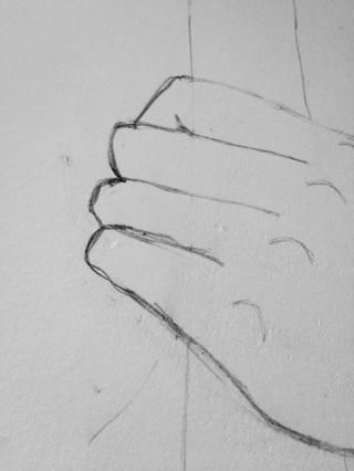Un poco como esto, pero don't do what I did for the pinkie finger haha!