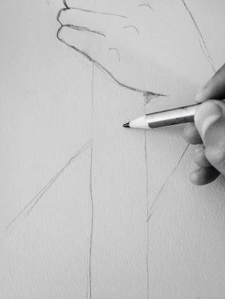 Pon tu lápiz en algún lugar en el personal.