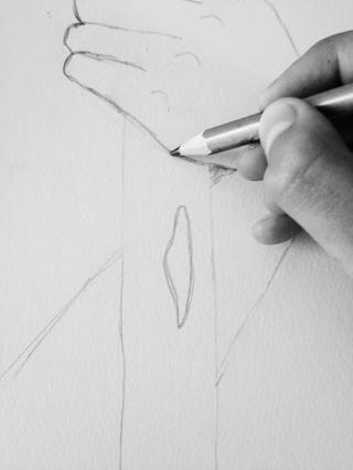 Por encima de esta forma, poner su lápiz. (Lol sueno como Yoda)