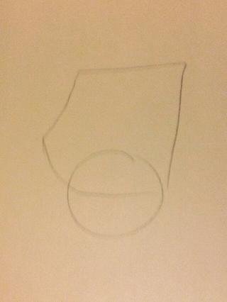 Añadir un círculo debajo de ella. Todos los círculos estaremos dibujo será articulaciones. Esta es la muñeca.