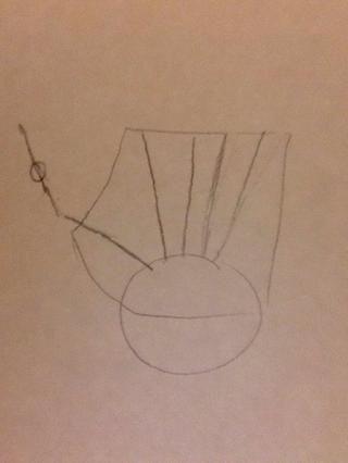 Crear líneas provenientes del círculo. Esto será finalmente los dedos!