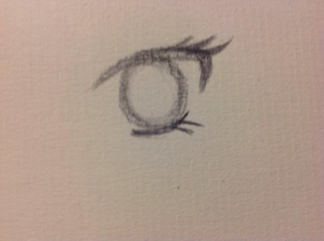 Añadir el iris. Me gusta hacer un anillo oscuro alrededor de él, ya que hace una mirada realista.