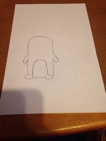 Dibujando el pelo! Saltar video si no desea que el pelo en usted pingüino!