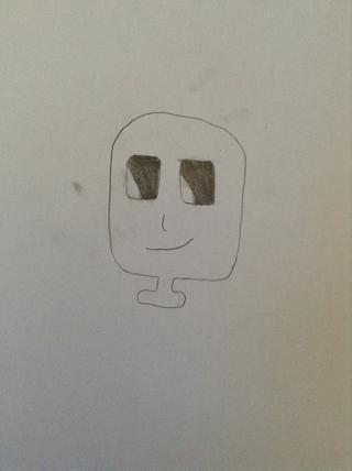 En primer lugar, se dibuja una forma de rectángulo por su cara y personaliza su cara.