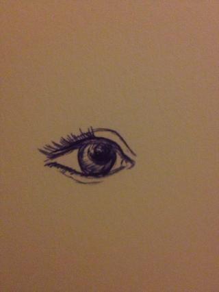 Mantenga dibujar las pestañas, haciéndolas más oscuro. También, hacer un poco de sombreado de la luz en el iris. No demasiado oscuro como para que no se mezclan con el iris.