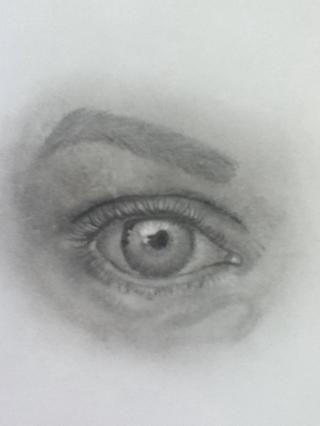 Entonces dibujé en las pestañas inferiores.
