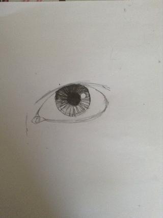 Dibujar patrones de líneas alrededor de la pupila. Puede cambiarlo hasta que los patrones en su mirada de ojos más único. Asegúrese de mantener la mancha blanca completamente blanco. Observe la zona más ligero del iris.