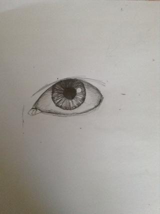 Oscurecer el globo ocular. Debajo de la piel y de los ojos niños tendrán una sombra. Que sea más oscuro en la parte superior del ojo y luego la sombra hacia el exterior.