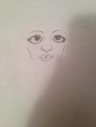 Comience Los lados de la cara, de nuevo, que sea sin embargo usted piensa que se ve mejor con su rostro dibujó!