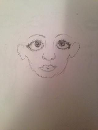 Dibuja lóbulos de las orejas