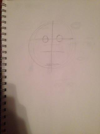 Dibuja dos círculos para los ojos