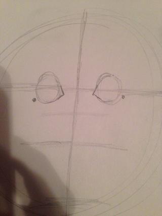 Hacer una forma de L en el interior de ellos y un punto en el exterior como en la foto