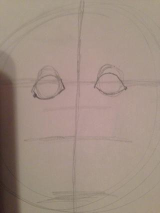 Añadir una línea en la parte superior y la parte inferior de cada ojo, al igual que