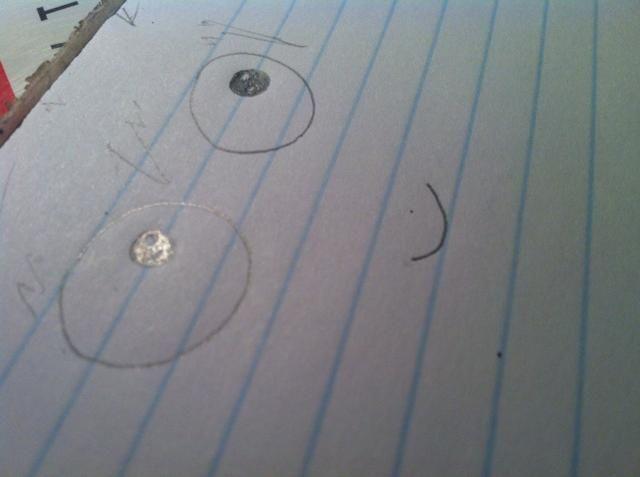 Dibuja una sonrisa y el pelo