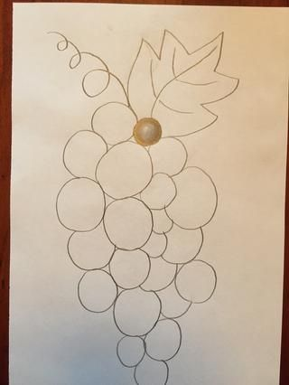 Comience convertir sus uvas en forma de agregar valor. Recuerde que el valor más oscuro sigue las líneas y se desvanece a medida que avanza en.
