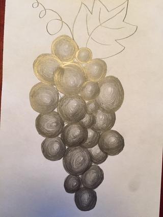Termine todas las uvas. Ajuste si es necesario para crear la forma exitosa.