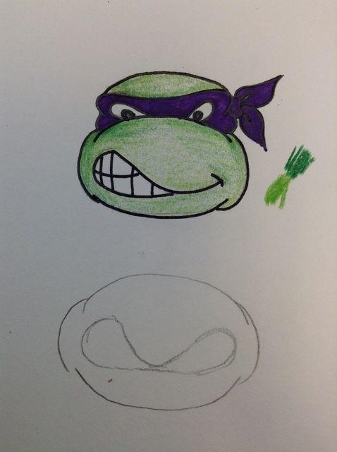 Cómo dibujar una tortuga de Teenage Mutant Ninja