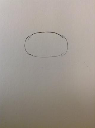 Dibuja dos líneas curvas que conectan la parte superior y parte inferior de las mejillas.