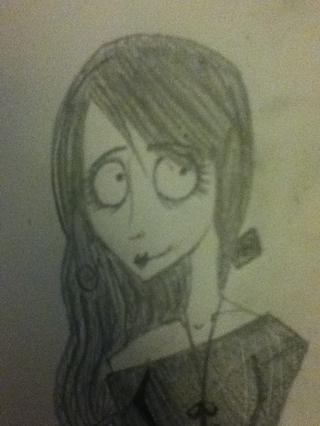 Dibuja la cara. Los ojos deben ser redondas, oscuro, y buscar un poco inquieto. La cara debe ser hallow.