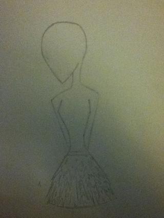 Añadir una falda o pantalón. Le di la mía una falda hecha jirones buscando. Aquí es donde empiezo a añadir detalles al personaje.