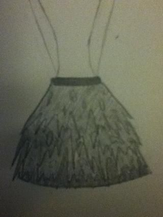 Skirt- detalladas de cerca.