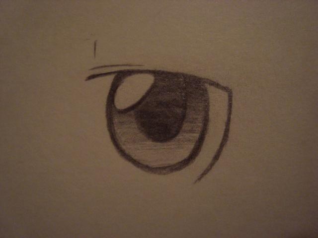 A continuación, agregue las dos líneas por encima del ojo para mostrar el párpado.