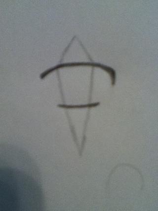 Añadir una forma de diamante débil como se muestra arriba, esta es su guía para el iris.