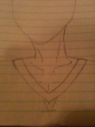 A continuación, añadir un poco de forma de la ropa! He añadido un cuello en V, ya que's a simple piece of clothing!